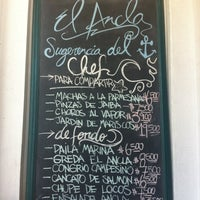 Photo taken at El Ancla Restaurant by Stephania A. on 3/11/2012