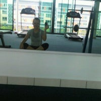 Photo taken at Cyber City Apartment 2 Gymnasium, Badminton Court and Pool by Stefi J. on 4/5/2012