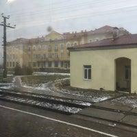 Photo taken at Ж/д станция Ивангород by Руслан П. on 12/7/2014