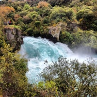 Photo taken at Huka Falls by MauOscar on 11/3/2012