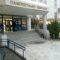 Photo taken at University of Piraeus by Alexandros M. on 11/23/2013
