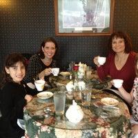 Photo taken at Elizabeth & Alexander's English  Tea Room by Julie V. on 12/22/2012