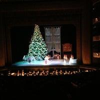 Photo taken at New York City Ballet by PLATON P. on 12/28/2012