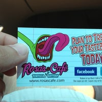 Photo taken at Rosa's Cafe & Tortilla Factory by Fred C. on 4/28/2013