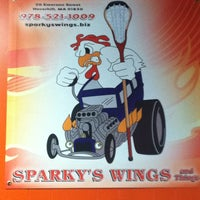 Photo taken at Sparky's Wings and Things by Matt C. on 4/9/2013