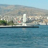 Photo taken at Karşıyaka by Aslı S. on 7/14/2013