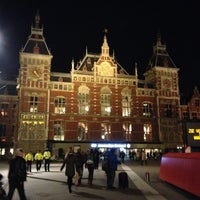 Photo taken at Amsterdam Centraal Railway Station by Melissa K. on 10/18/2013