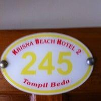 Photo taken at Krisna Beach Hotel by Raih I. on 8/11/2013