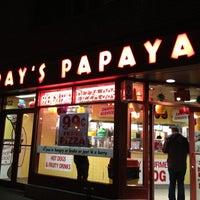 Photo taken at Gray's Papaya by SMILEY_ROY on 11/29/2012