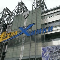 Photo taken at Arena Khimki by Andrew M. on 7/22/2013