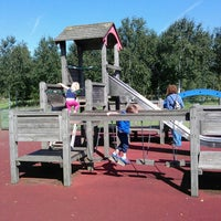 Photo taken at Thames Barrier Park by Jo T. on 8/29/2013
