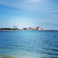 Photo taken at Beachfront Park by Christopher K. on 6/21/2014