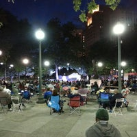 Photo taken at Grand Circus Park by Kate H. on 8/15/2013