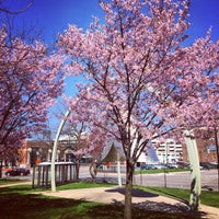 Photo taken at Grand Circus Park by Kate H. on 4/24/2015
