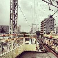Photo taken at Keisei Sekiya Station (KS06) by ロンゴロンゴ on 5/20/2013