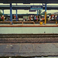 Photo taken at Stasiun Depok Baru by Ardy S. on 10/19/2012