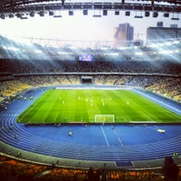 Photo taken at Olimpiyskiy Stadium by Kseniya T. on 7/29/2013