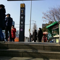 Photo taken at Songjeong Stn. by EUN SOOK L. on 12/21/2013
