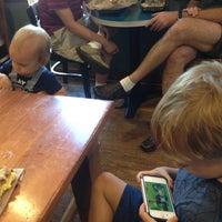 Photo taken at Einstein Bros Bagels by John W. on 8/24/2013