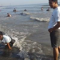 Photo taken at Pantai Alam Indah (PAI) Tegal by Nida A. on 7/31/2014