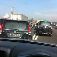 Photo taken at Exit tol curug / bitung by Trisna D. on 4/6/2015