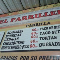 "Photo taken at Tacos ""El Parrillero"" by Frodo L. on 1/25/2014"