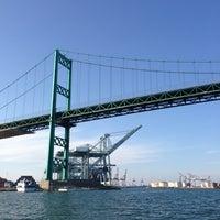 Photo taken at Vincent Thomas Bridge by Gina P. on 3/18/2013