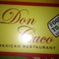 Photo taken at Don Cuco Mexican Restaurant by David T. on 4/17/2013