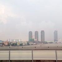 Photo taken at King Taksin Bridge by Kantida N. on 10/18/2016
