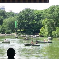 Photo taken at Central Park Boathouse by Yerelyn C. on 6/9/2013