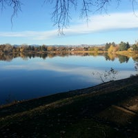 Photo taken at Huston Lake Park by Christopher G. on 10/30/2012