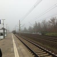 Photo taken at Bahnhof Berlin-Staaken by David L. on 12/12/2013