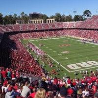 Photo taken at Stanford Stadium by Jorge O. on 10/6/2012