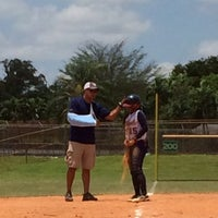 Photo taken at Pop Travers Softball Fields by Mayte D. on 5/18/2014