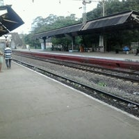 Photo taken at Whashermanpet Railway Station by Sri R. on 8/31/2013