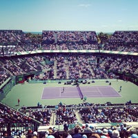 Photo taken at Grandstand Court - Sony Ericsson Open by Alexandra K. on 3/30/2013