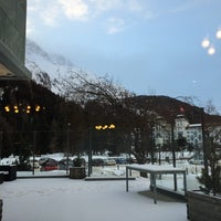 Photo taken at San Gian Hotel St. Moritz by Mary K. on 12/31/2014