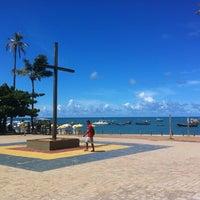 Photo taken at Praia do Forte by Keyla K. on 4/5/2013
