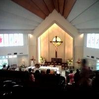 Photo taken at Gereja Katolik Santo Yakobus by Williee M. on 3/31/2013