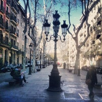 Photo taken at Passeig del Born by Dan B. on 2/14/2013