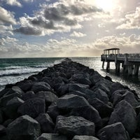 Photo taken at South Pointe Pier by Juan G. on 12/26/2016