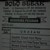 Photo taken at Solo steak by neita e. on 2/23/2013