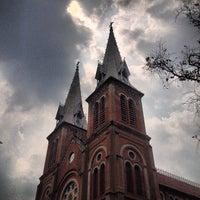 Photo taken at Saigon Notre-Dame Basilica by Gautam J. on 3/8/2013