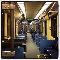 Photo taken at American Boulevard LRT Station by Harmony B. on 5/4/2013