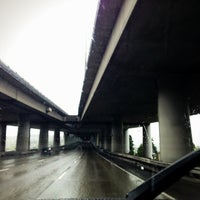 Photo taken at Ship Canal Bridge by Kate K. on 4/7/2013