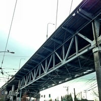 Photo taken at Ship Canal Bridge by Kate K. on 1/26/2013