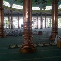 Photo taken at Masjid Agung Al-Falah by Azka A. on 9/23/2013