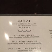 Photo taken at Maze Restaurant by John P. on 2/17/2015