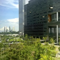 Photo taken at Mapletree Business City by DoriKin S. on 9/17/2016