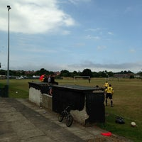 Photo taken at Wingate Welfare Park - Wingate FC by Andy H. on 7/27/2013